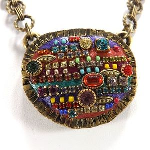 Michal Golan Handmade Swarovski Pendant Necklace